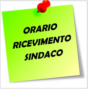 ORARIO RICEVIMENTO SINDACO