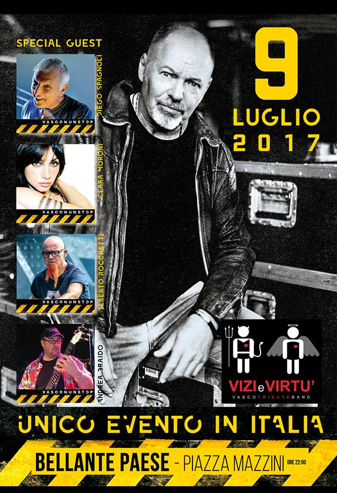 """BELLANTESTATE – """"VASCO ROSSI TRIBUTE BAND"""" PIAZZA MAZZINI 9 LUGLIO ORE 22:00"""