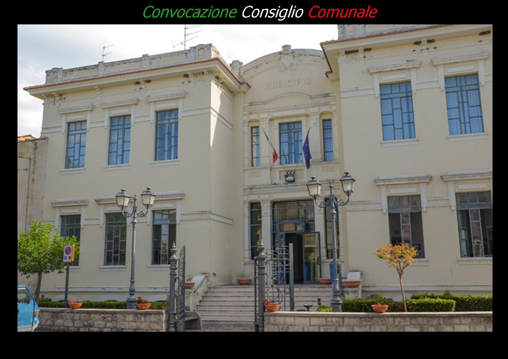CONVOCAZIONE CONSIGLIO COMUNALE GIOVEDI' 28 DICEMBRE ORE 9.30