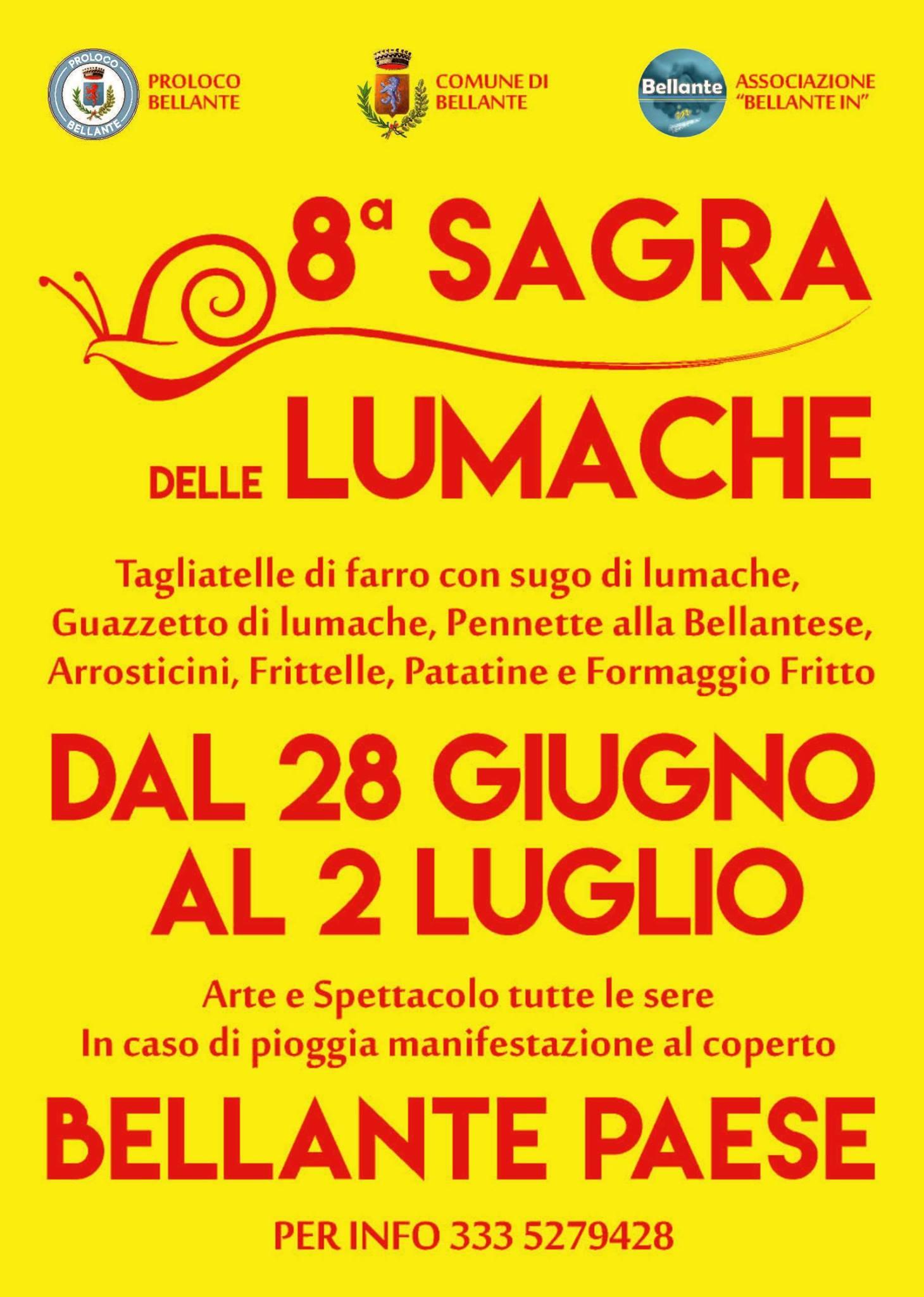 BELLANTESTATE – 8^ SAGRA DELLA LUMACA – BELLANTE PAESE