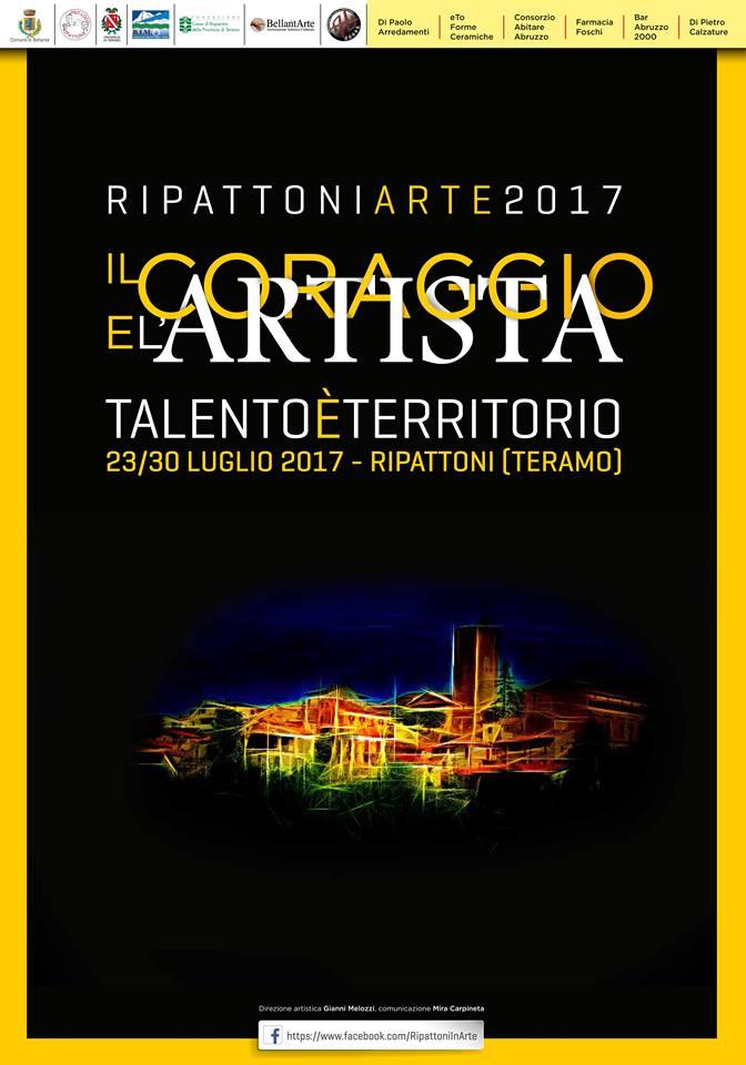 BELLANTESTATE – RIPATTONI IN ARTE – DAL 22 AL 29 LUGLIO DALLE ORE 19:00 – RIPATTONI