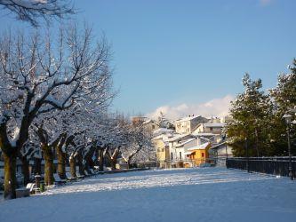 Belvedere e Borgo Trinità innevato